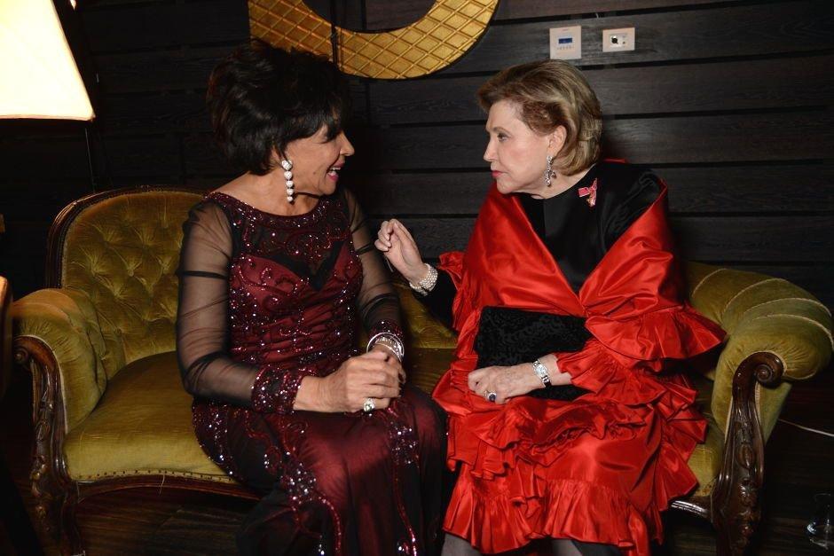 Dame Shirley Bassey and Barbara Taylor Bradford