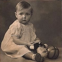 Barbara Taylor Bradford at the age of nine months