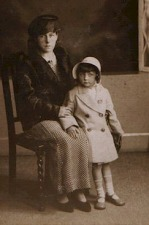 Barbara, aged four all dressed up for Whitsuntide
