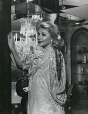 Barbara in a Zandra Rhodes evening gown