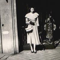 Barbara at seventeen outside Christian Dior in Paris