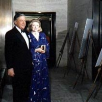 Bob Bradford & Barbara Taylor Bradford attending an art exhibition in New York City