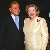Barbara Taylor Bradford and Bob Bradford arrive at an event in their honor at the Dallas Women's Museum