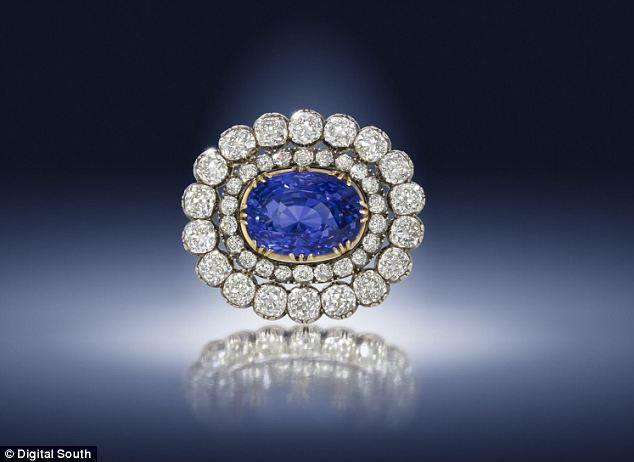 Antique sapphire and diamond brooch. Estimated worth: £66,000-£98,000