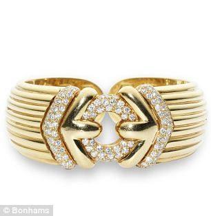 Gold diamond bracelet by Bulgari. Estimated worth: £2,000 – £2,500