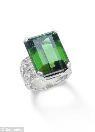 Tourmaline and diamond ring by Tambetti. Estimated worth: £3,500 – £4,500