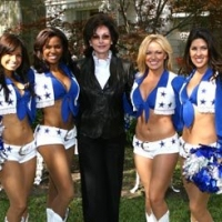 The Dallas Cowboys Cheerleaders Arrive at the Lupton Ranch with Gene Jones (wife of Cowboys owner, Jerry Jones)
