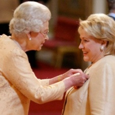 Barbara gets awarded OBE from Her Majesty The Queen