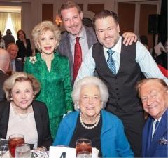 Barbara Taylor Bradford and Robert Bradford with Barbara Bush