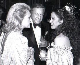 Barbara Taylor Bradford and Bob Bradford with actress Jane Seymour