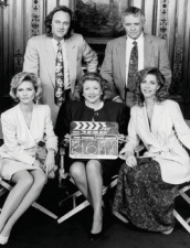 Barbara Taylor Bradford and the cast of To Be The Best, her four hour miniseries