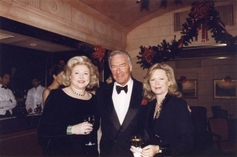 Barbara Taylor Bradford with acting legend Christopher Plummer and his wife, Elaine
