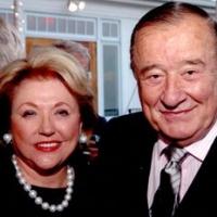 Barbara Taylor Bradford and Sirio Maccioni, legendary owner of LeCirque restaurant in Manhattan