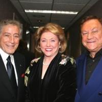 Barbara Taylor Bradford and Bob Bradford with iconic singer Tony Bennett at Harrah's Casino in Atlantic City, NJ
