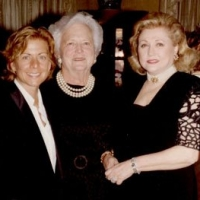 Barbara Taylor Bradford with former US First Lady, Barbara Bush, and bestselling author Patricia Cornwell