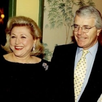 Barbara Taylor Bradford with former UK Prime Minister John Major, and his wife, Dame Norma Major