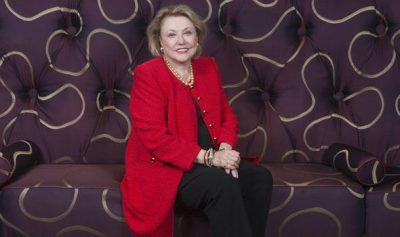 Author Barbara Taylor Bradford photographed at the Dorchester Hotel (Image: STEVE REIGATE)