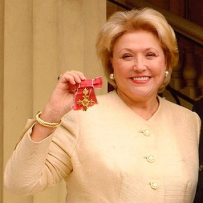 Barbara Taylor Bradford with her OBE
