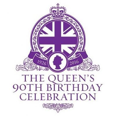 Queens 90th Birthday Celebration Logo