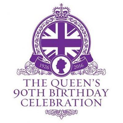 Queens 90th Birthday Celebration Logo