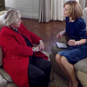 Barbara Taylor Bradford interviewed by Sian Williams on Channel 5 News